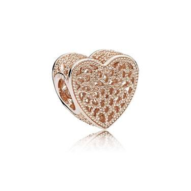 PANDORA Filled with Romance Rose Charm  - Click to view larger image