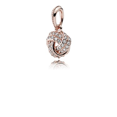 ee39cf93c Pandora Sparkling Rose Love Knot Pendant - Click to view larger image