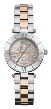 Vivienne Westwood Rose Gold and Silver Westbourne Orb Watch  - Click to view larger image