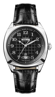 Vivienne Westwood Silver and Black Hampstead Watch  - Click to view larger image