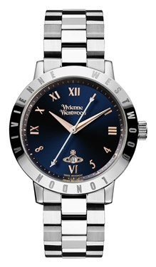 Vivienne Westwood Silver Bloomsbury Blue Watch  - Click to view larger image