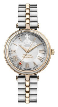 Vivienne Westwood Silver and Rose Gold Farringdon Watch  - Click to view larger image