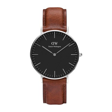 Daniel Wellington Classic Black St Mawes 36mm Silver Watch   - Click to view larger image