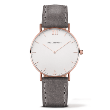 Paul Hewitt Sailor Line Rose Gold & Grey Watch  - Click to view larger image