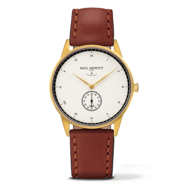 Paul Hewitt Signature Line Gold & Brown Watch  - Click to view larger image