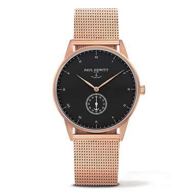 Paul Hewitt Signature Line Black & Rose Gold Watch  - Click to view larger image