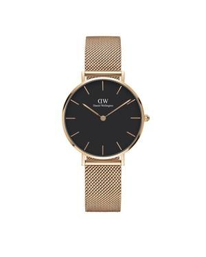 Daniel Wellington Classic Petite Melrose Black Dial Watch  - Click to view larger image