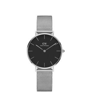 Daniel Wellington Classic Petite Sterling Black Dial Watch  - Click to view larger image