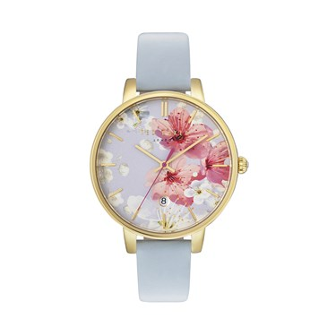 Ted Baker Blue Oriental Blossom Kate Watch  - Click to view larger image