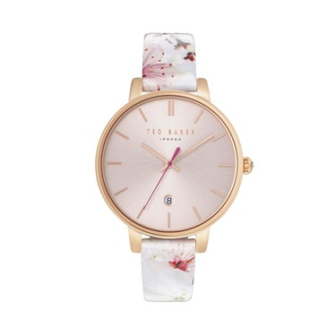 Ted Baker Oriental Blossom Print Kate Watch  - Click to view larger image