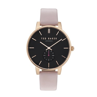 Ted Baker Olivia Black & Pink Watch  - Click to view larger image