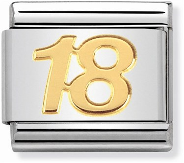 Nomination 18th Birthday Charm  - Click to view larger image
