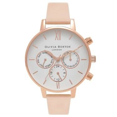 Olivia Burton Peach & Rose Gold Chrono Watch  - Click to view larger image