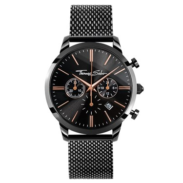 Thomas Sabo Mens Black Chrono Rebel Spirit Watch  - Click to view larger image