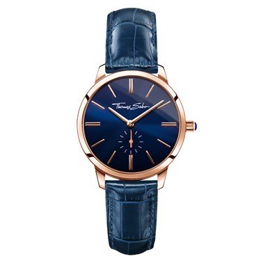 Thomas Sabo Navy Leather Glam Spirit Watch