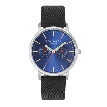 Ted Baker Mens Black Canvas Watch  - Click to view larger image
