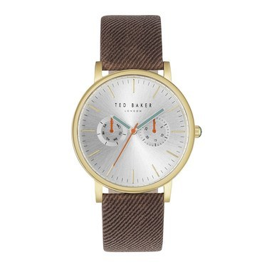 Ted Baker Mens Brown Canvas Brit Watch  - Click to view larger image