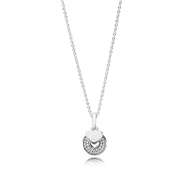 Pandora Celebration Hearts Necklace  - Click to view larger image