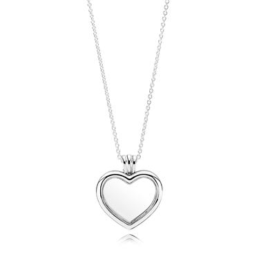 Pandora Heart Locket Necklace  - Click to view larger image