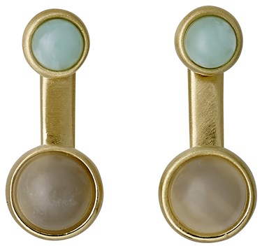 Pilgrim Elda Gold & Green Ear Jackets  - Click to view larger image