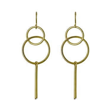 Pilgrim Gaia Gold Circle Earrings  - Click to view larger image