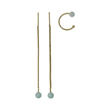 Pilgrim Gold & Green Earring Set  - Click to view larger image