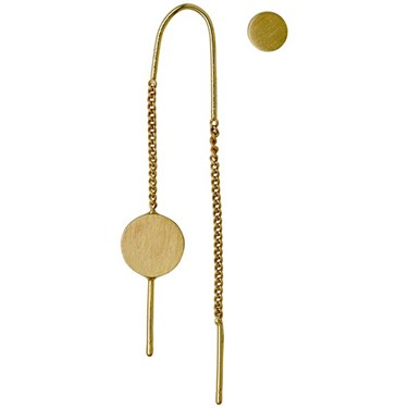 Pilgrim Mell Gold Assymetric Earrings  - Click to view larger image