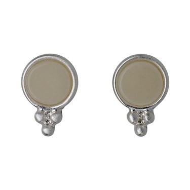 Pilgrim Silver & Grey Abstract Earrings  - Click to view larger image