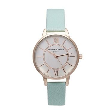 Olivia Burton Wonderland Mint & Rose Gold Watch  - Click to view larger image