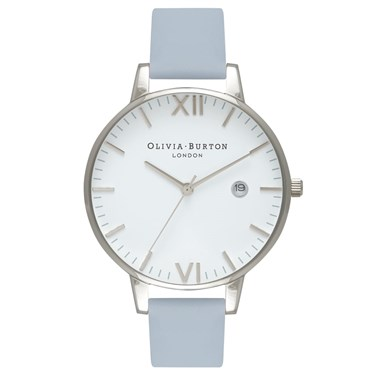 Olivia Burton Timeless Chalk Blue & Silver Watch  - Click to view larger image