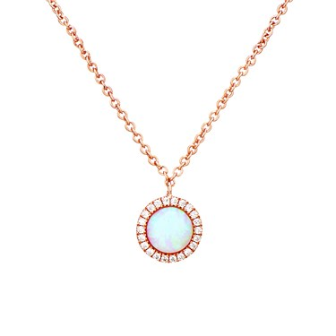 Argento Rose Gold Crystal Opal Necklace  - Click to view larger image