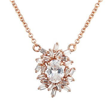 Argento Rose Gold Stellar Cluster Necklace  - Click to view larger image