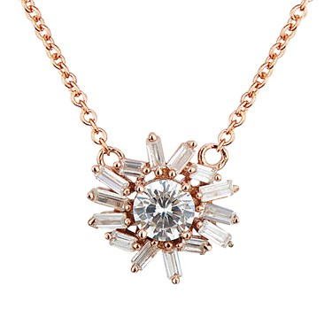 Argento Rose Gold Stellar Flower Necklace  - Click to view larger image