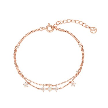 August Woods Rose Gold Floral Bracelet  - Click to view larger image