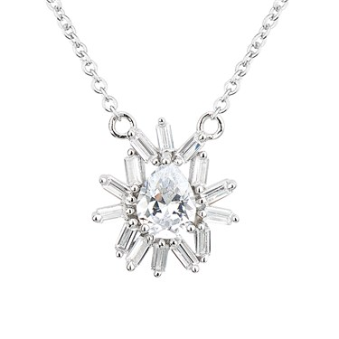 Argento Silver Stellar Crystal Necklace  - Click to view larger image