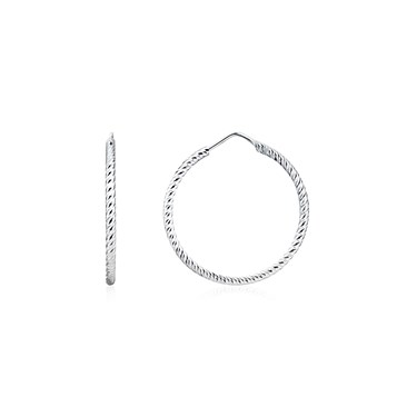 Argento Silver Shining Hoops  - Click to view larger image
