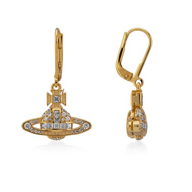 Vivienne Westwood Clotilde Gold Drop Earrings  - Click to view larger image