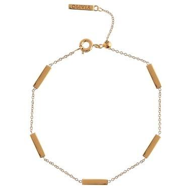 Olivia Burton Bar Chain Gold Bracelet  - Click to view larger image