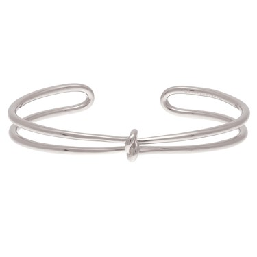 Olivia Burton Forget Me Knot Silver Cuff   - Click to view larger image