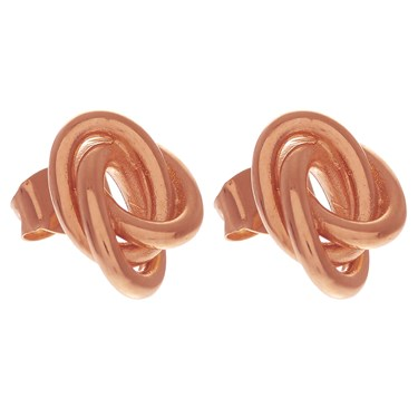 Olivia Burton Forget Me Knot Rose Gold Stud Earrings  - Click to view larger image