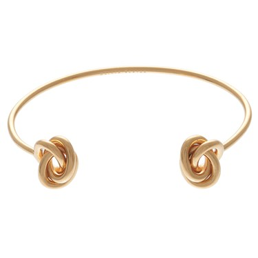 Olivia Burton Forget Me Knot Open Ended Gold Bangle   - Click to view larger image