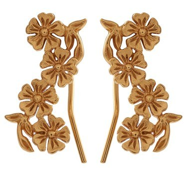 Olivia Burton Lace Detail Crawler Gold Earrings  - Click to view larger image
