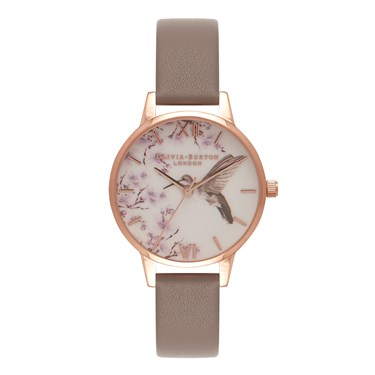 Olivia Burton Painterly Prints London Grey Watch  - Click to view larger image