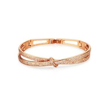 August Woods Rose Gold Knot Bracelet  - Click to view larger image