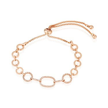 August Woods Rose Gold Oval Pull Bracelet  - Click to view larger image