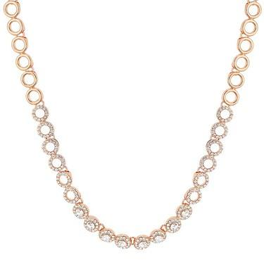 August Woods Rose Gold Crystal Link Necklace  - Click to view larger image