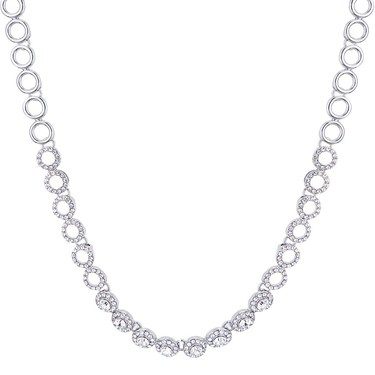 August Woods Silver Crystal Link Necklace  - Click to view larger image