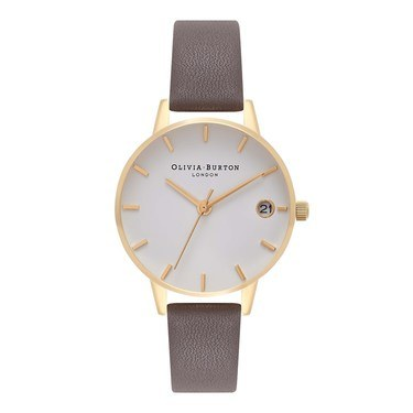Olivia Burton The Dandy London Grey & Gold Watch  - Click to view larger image