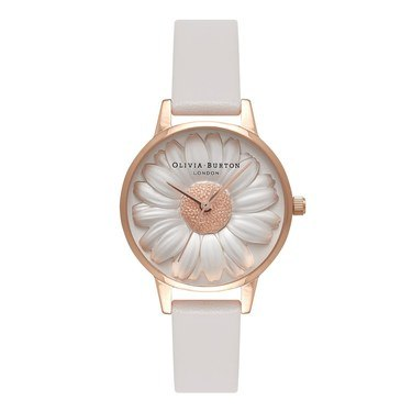 Olivia Burton Vegan Friendly 3D Daisy Grey Watch  - Click to view larger image