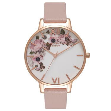 Olivia Burton Vegan Friendly Floral Rose Watch  - Click to view larger image